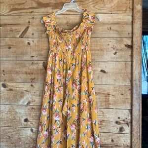 Xhilaration floral romper with maxi skirt overlay